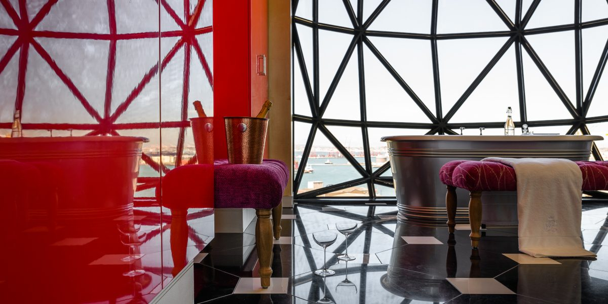 The Silo Hotel Rooms: Royal Suite Bathroom
